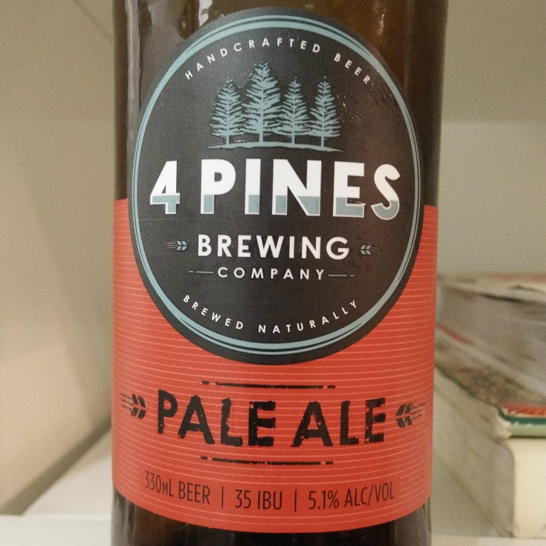 4 Pines Pale Ale, local beer from Manly