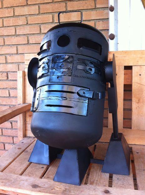 R2D2 Holzkohlegrill
