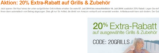 Amazon 20% Aktion (Screenshot von Amazon.de)
