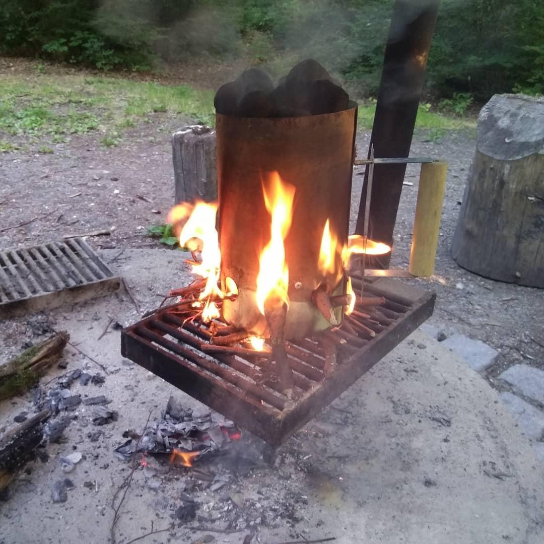 Grillen darf nicht gesund sein auf der Lichtung im Heumadener Wald in Stuttgart