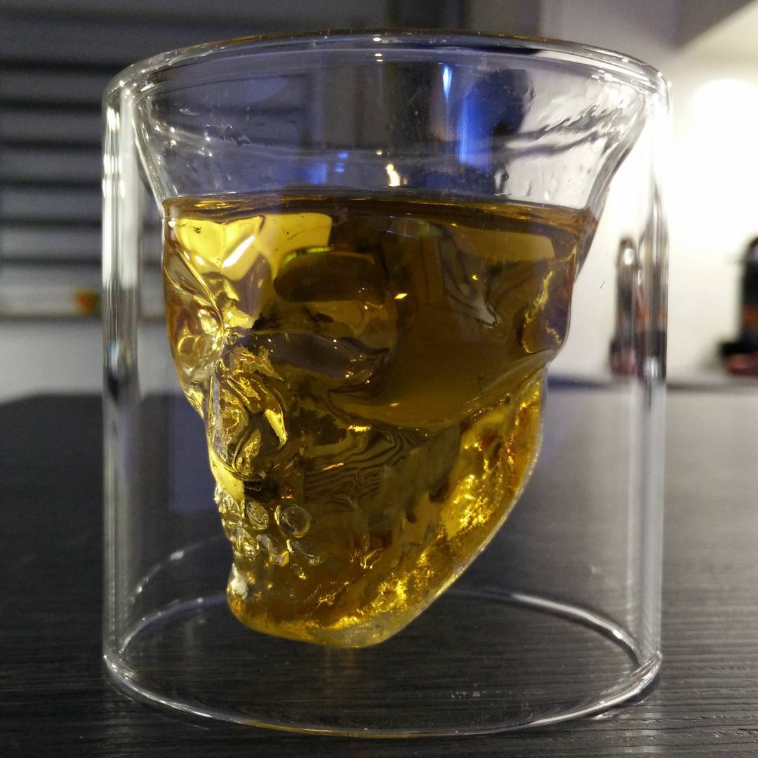 Doom Skull Glass