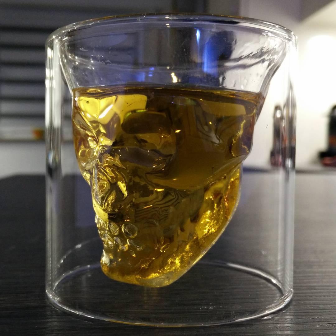 Doom Skull Glass