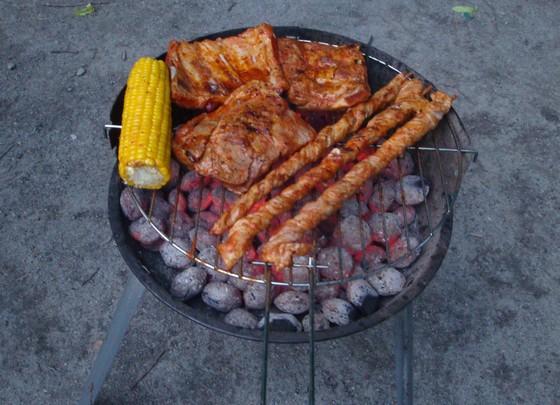 Wer zuerst grillt...